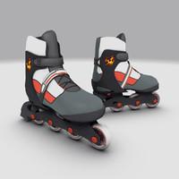 3d model roller skates