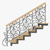 wrought iron stair rails max