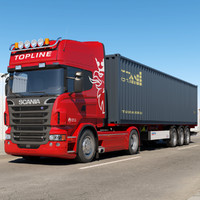 3ds max scania r 730 container
