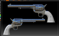 Six Shooter Colt ZBrush