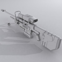 3d custom sniper rifle - model