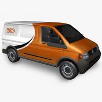 3d model volkswagen postal service
