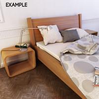 3d model bed cloth realistic