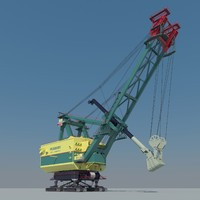 3d model of power shovel
