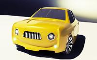 concept car renault 4l 3d max