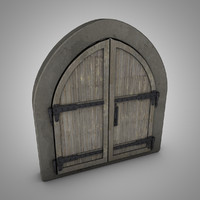 old medieval door 3d model