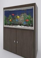 3d aquarium fish tropical model