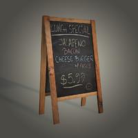 3d model menu board