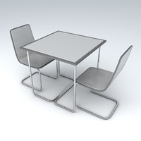 3d set furniture model