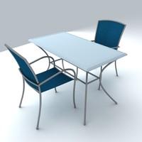 3d model of set furniture