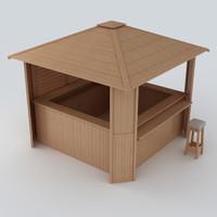 beach bar 3d model