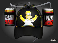 3d model homer simpson beer hat