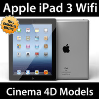 apple ipad 3 wifi 3d c4d