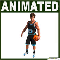 3d hi-poly basketball player cg model