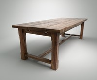 wood table 3d model
