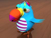 3d kukoo bird model