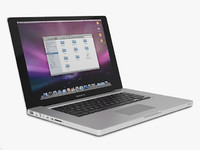 apple mac book pro 3d model