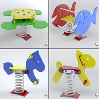 3d playgrounds set modeled model