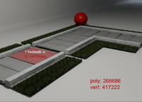3d grass footwalk 02 model