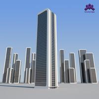 Futuristic Sci-Fi Skyscraper 3 set