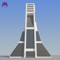 3d model futuristic sci-fi skyscraper