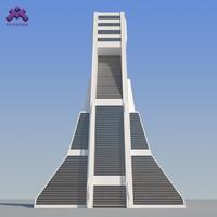 Futuristic Sci-Fi Skyscraper 2