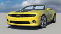 3d model chevy camaro ss car