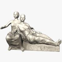 3d model statue women