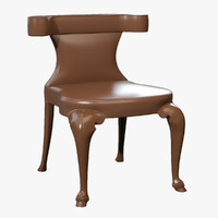 photorealistic modern equestrian dining chair 3d 3ds