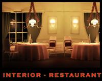 interior scene restaurant 3d max