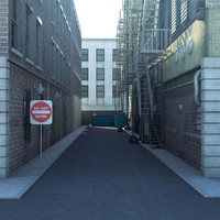3d model new york city alley
