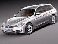 bmw f31 2013 touring 3d 3ds