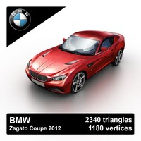 2012 bmw zagato coupe 3d model