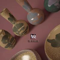 baker modern vases 3d model