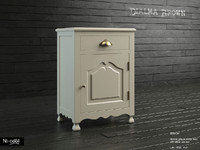 3d model bedside table dialma brown