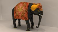 3dsmax traditional indian elephant