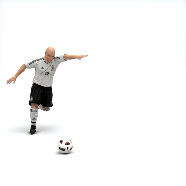 3d model rigged football player - - Rigged Football Player and Goalkeeper - Germany National T... by cgshape