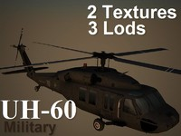 uh-60 military helicopter 3d model