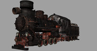 steam p24 narrow-gauge 3d model