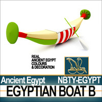 Ancient Egypt Rowboat B