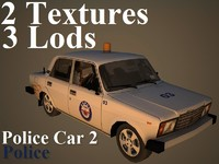 3d model police car 2