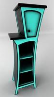 curvy cabinet 3d max