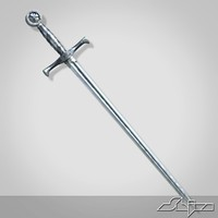 medieval long sword 1 3d obj