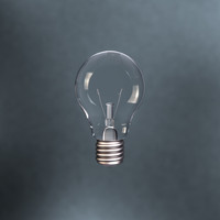 resolution lightbulb 3d model