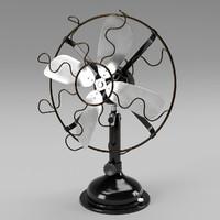 electronic fan 3d model