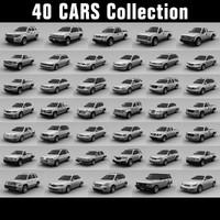 3d 40 cars model