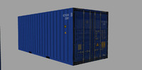 container teu 20ft 3d model