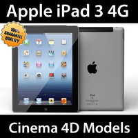c4d apple ipad 3 3g