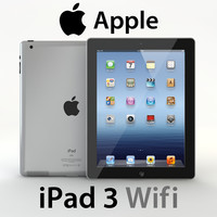 realistic apple ipad 3 3d model