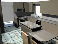 floorplan kitchen 3d obj